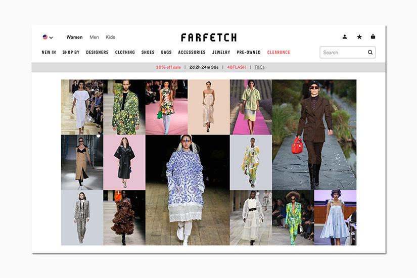 best women online shopping sites farfetch - Luxe Digital