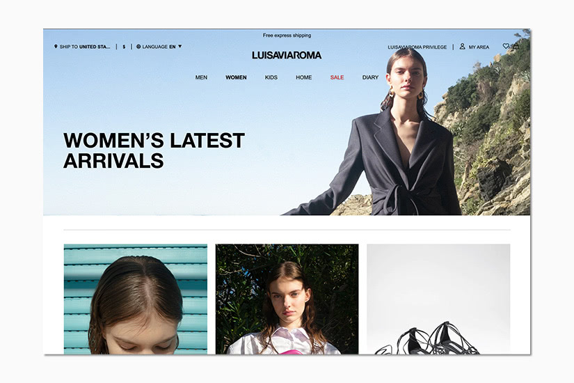 best women online shopping sites LUISAVIAROMA - Luxe Digital