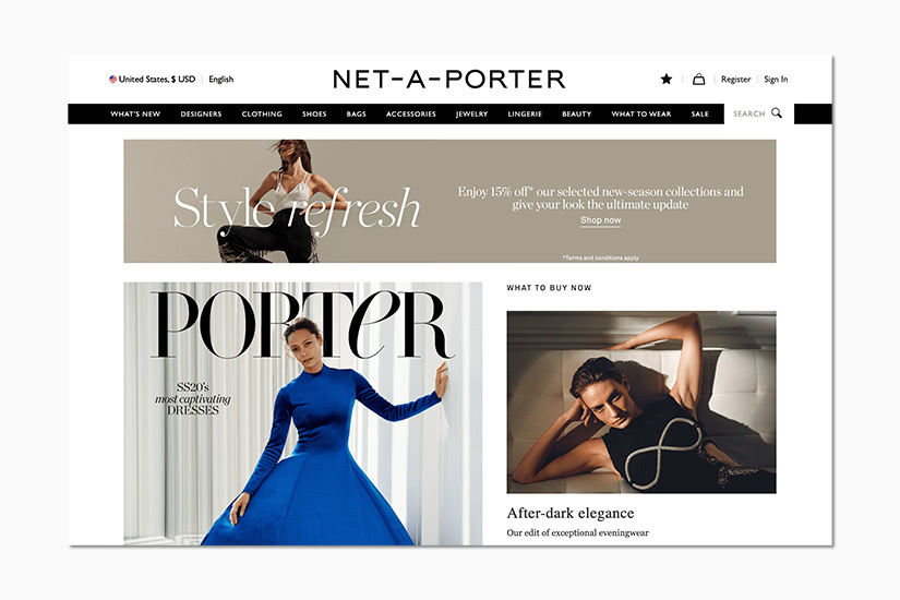 best women online shopping sites net-a-porter - Luxe Digital