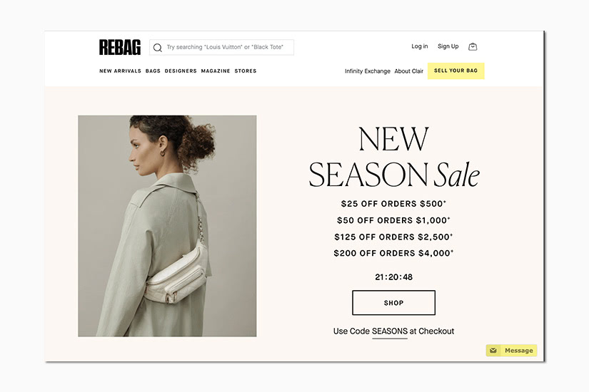 best women online shopping sites rebag - Luxe Digital