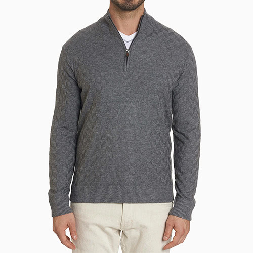 men loungewear style cardigan Robert Graham - Luxe Digital