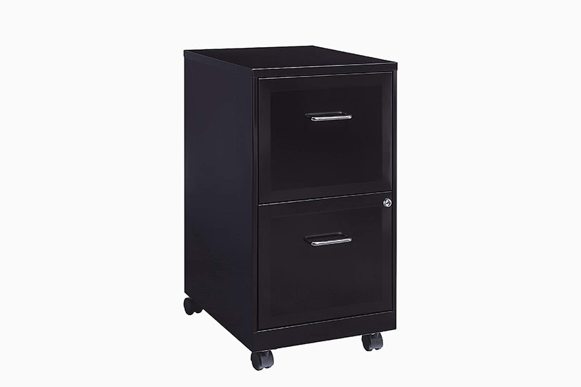 best home office setup file cabinet - Luxe Digital
