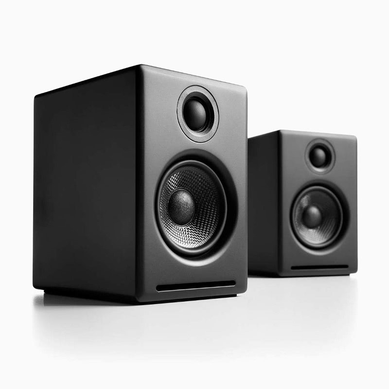 best home office setup speakers Audioengine A2 - Luxe Digital
