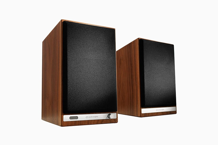 best home office setup speakers Audioengine HD6 - Luxe Digital