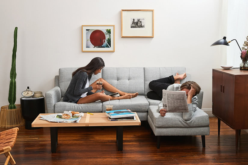 direct-to-consumer business strategy Burrow sofa - Luxe Digital