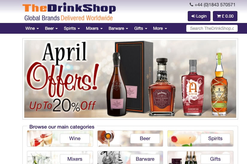 where buy alcohol online the drink shop - Luxe Digital