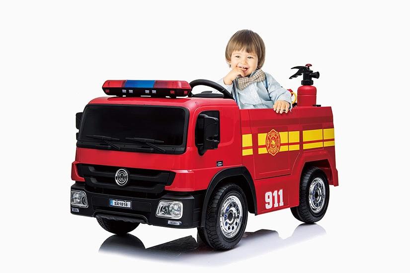 best electric cars kids kidsclub ride-on fire truck premium - Luxe Digital