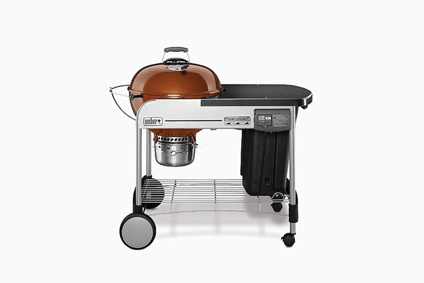 best grill barbecue charcoal weber performer deluxe premium - Luxe Digital