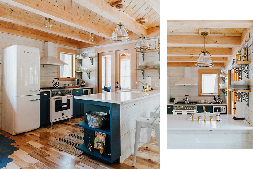 the woods maine treehouse kitchen luxury - Luxe Digital