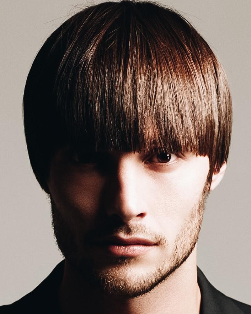 best short haircuts men bowl cut bangs - Luxe Digital