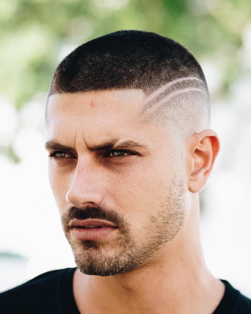 best short haircuts men buzz cut shaved design - Luxe Digital