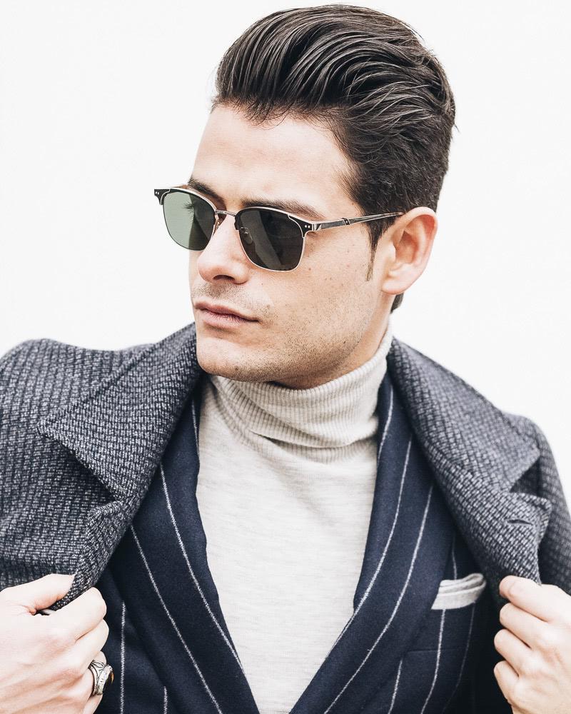 best short haircuts men classic pompadour - Luxe Digital