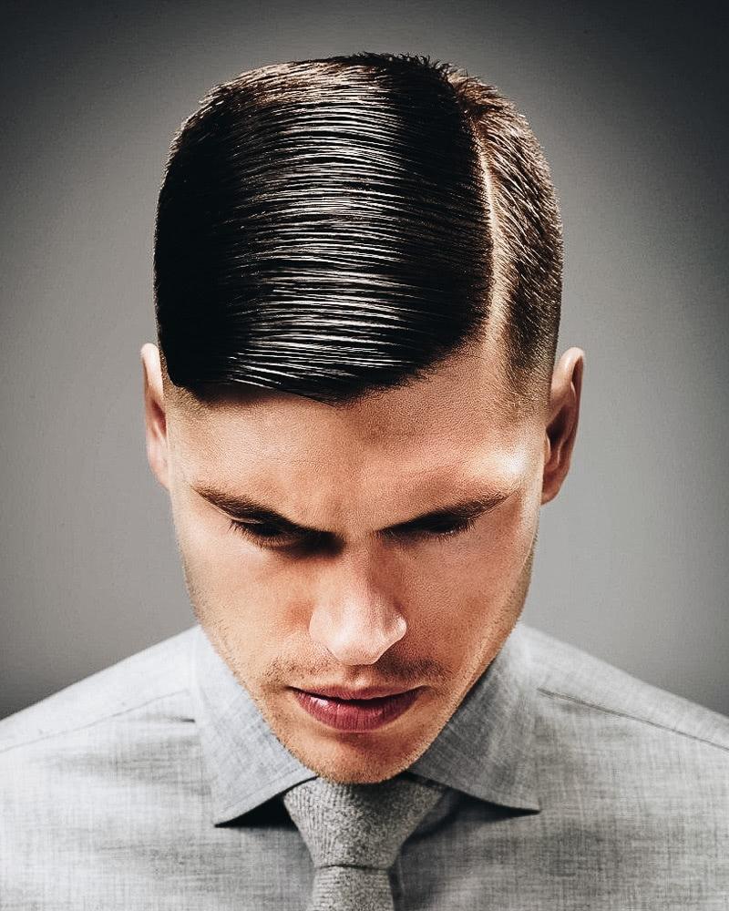 best short haircuts men classic side part - Luxe Digital
