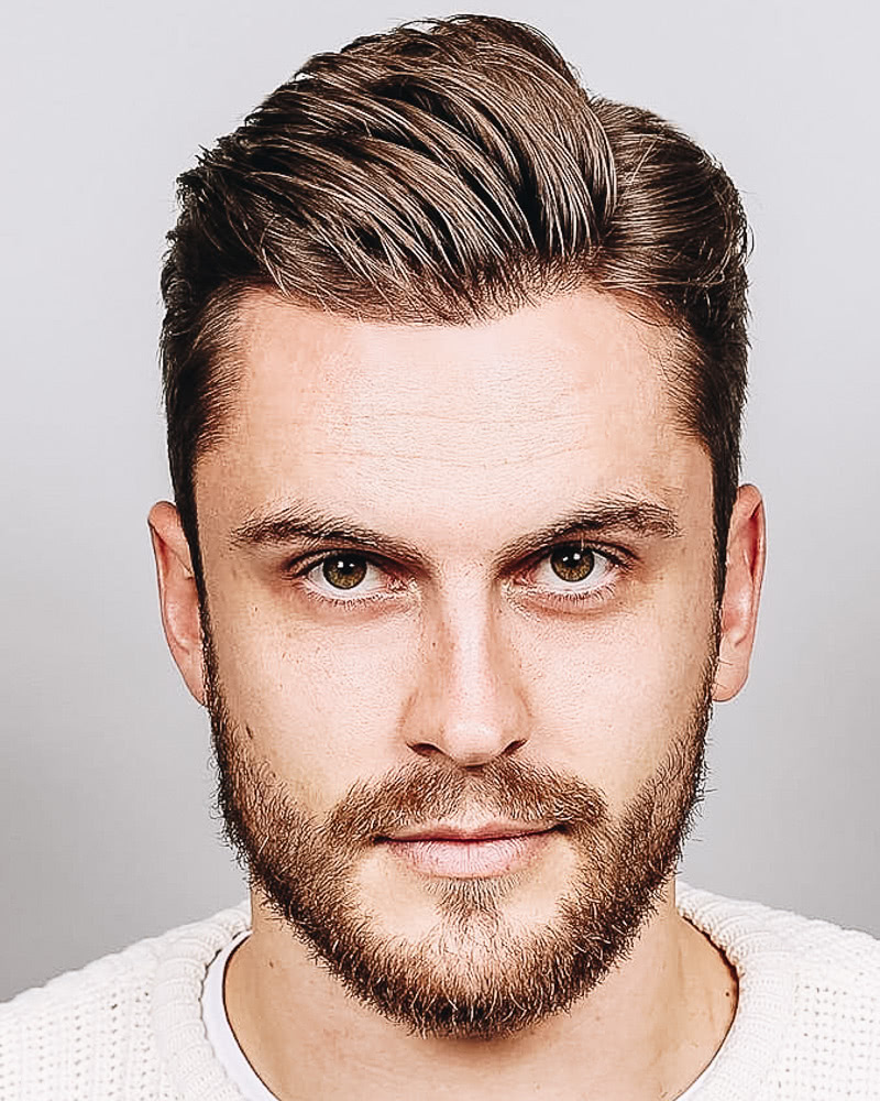 best short haircuts men comb over low fade - Luxe Digital