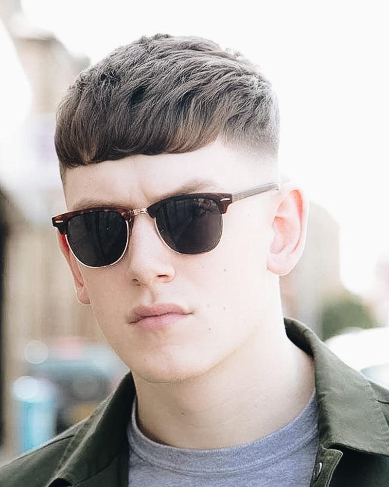 best short haircuts men fade long bangs - Luxe Digital