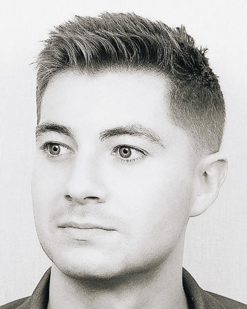 best short haircuts men fade spike - Luxe Digital