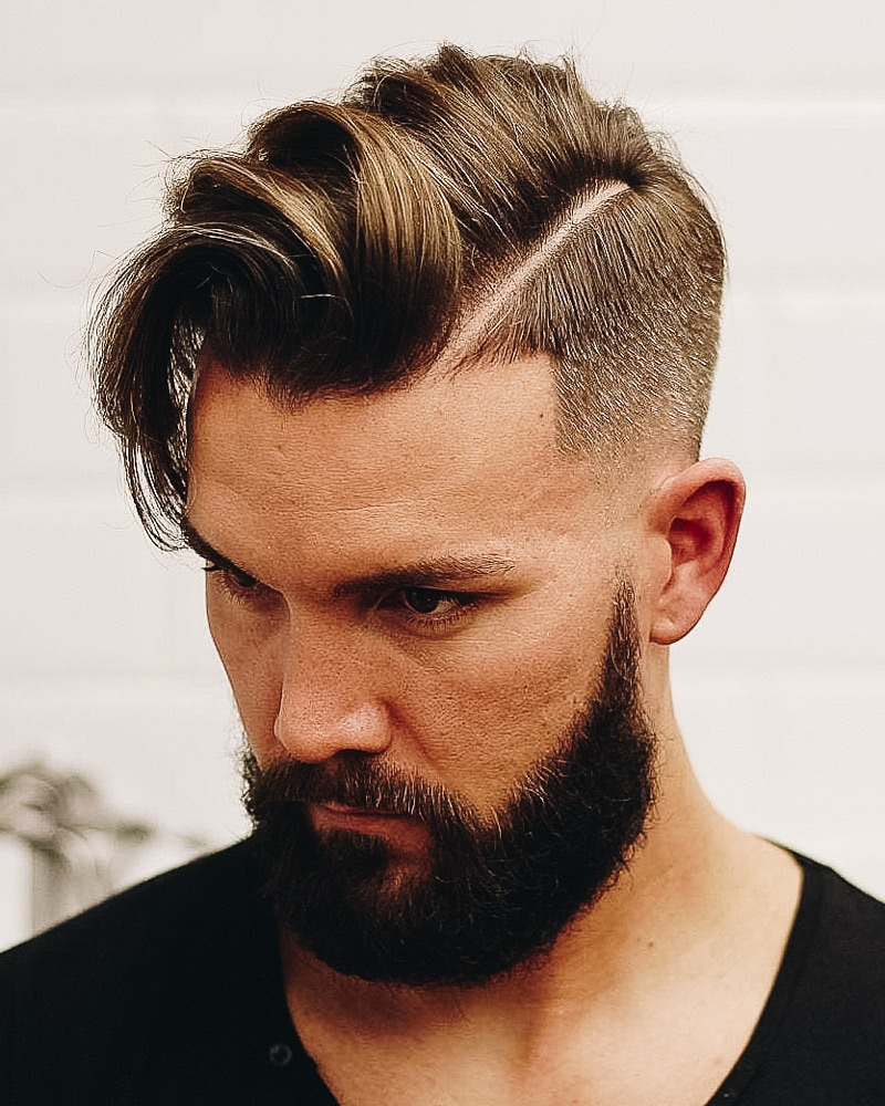 best short haircuts men hard line undercut - Luxe Digital