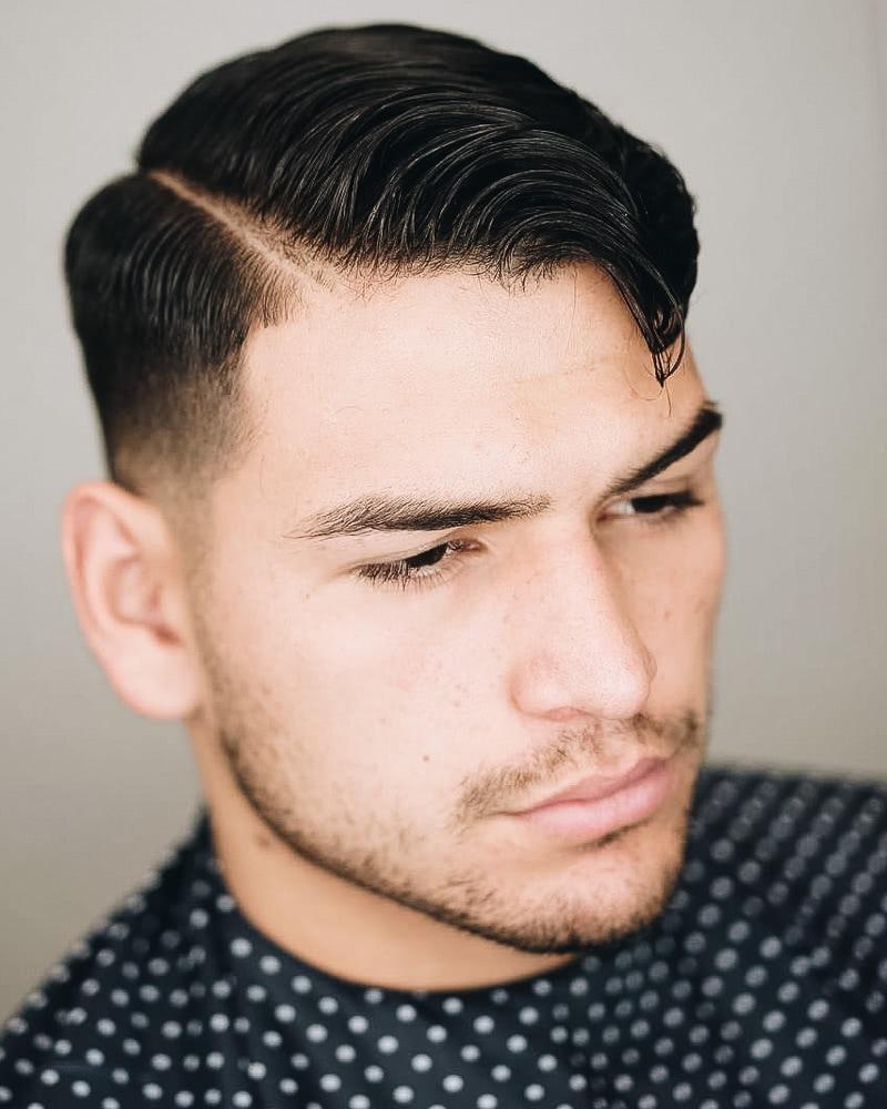 best short haircuts men hard part - Luxe Digital