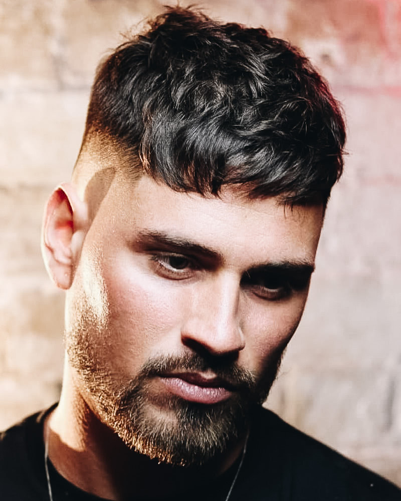 best short haircuts men messy french crop - Luxe Digital
