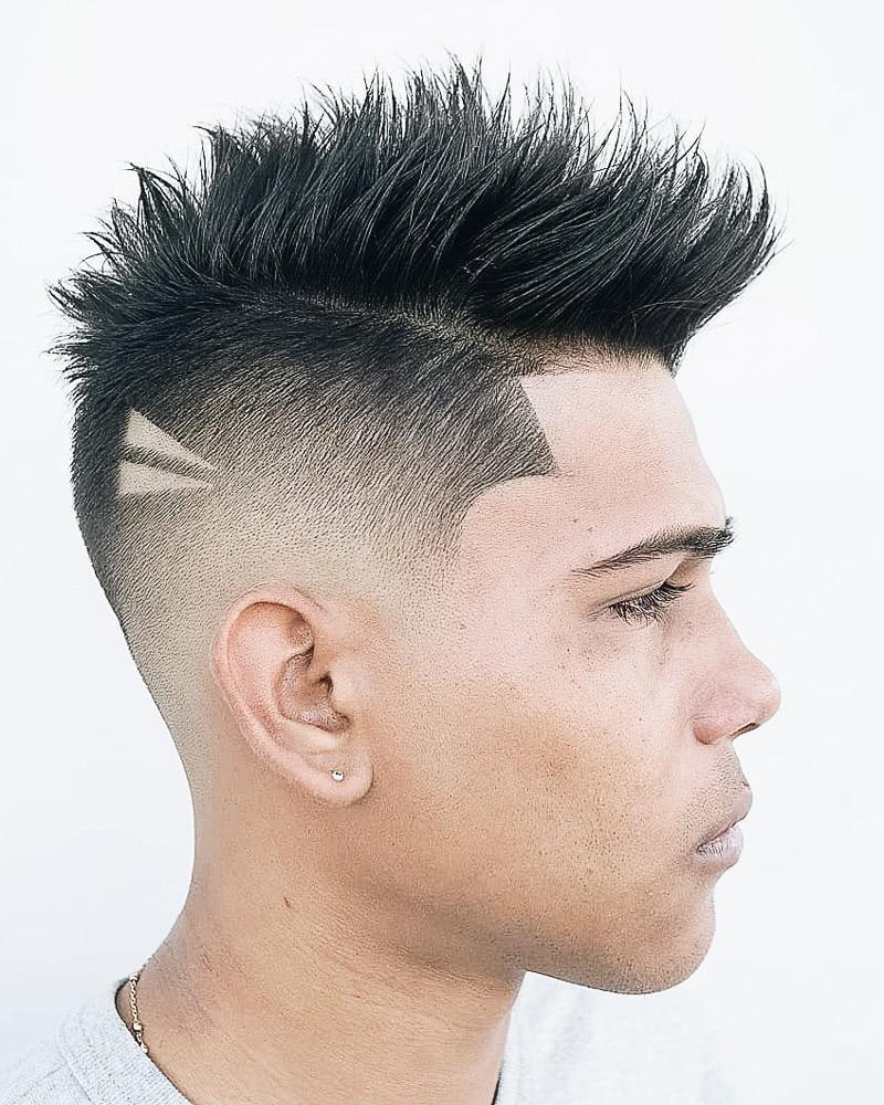 best short haircuts men modern mohawk - Luxe Digital