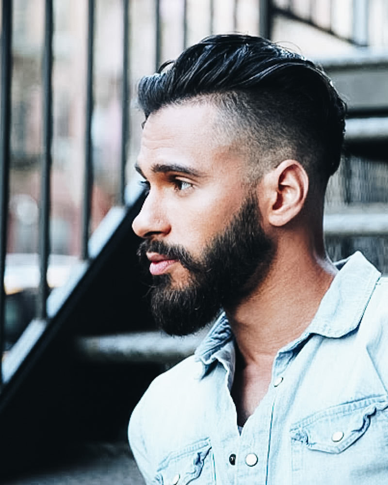 best short haircuts men modern quiff faded sides - Luxe Digital