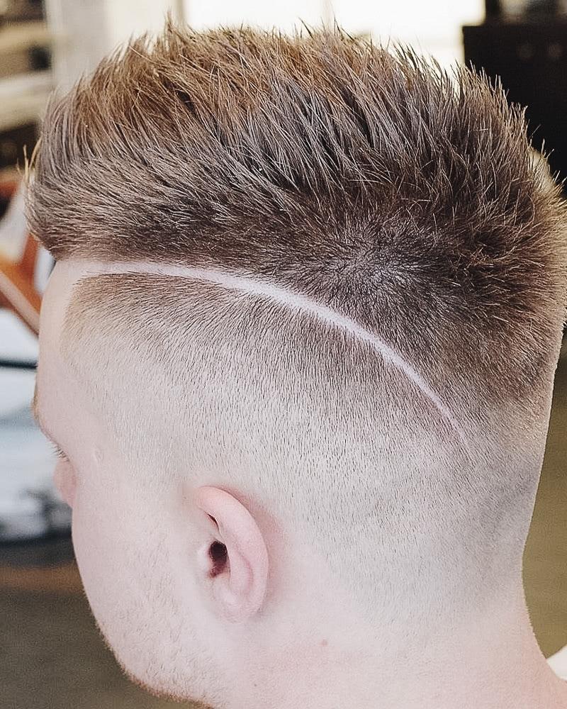 best short haircuts men spiky side part - Luxe Digital