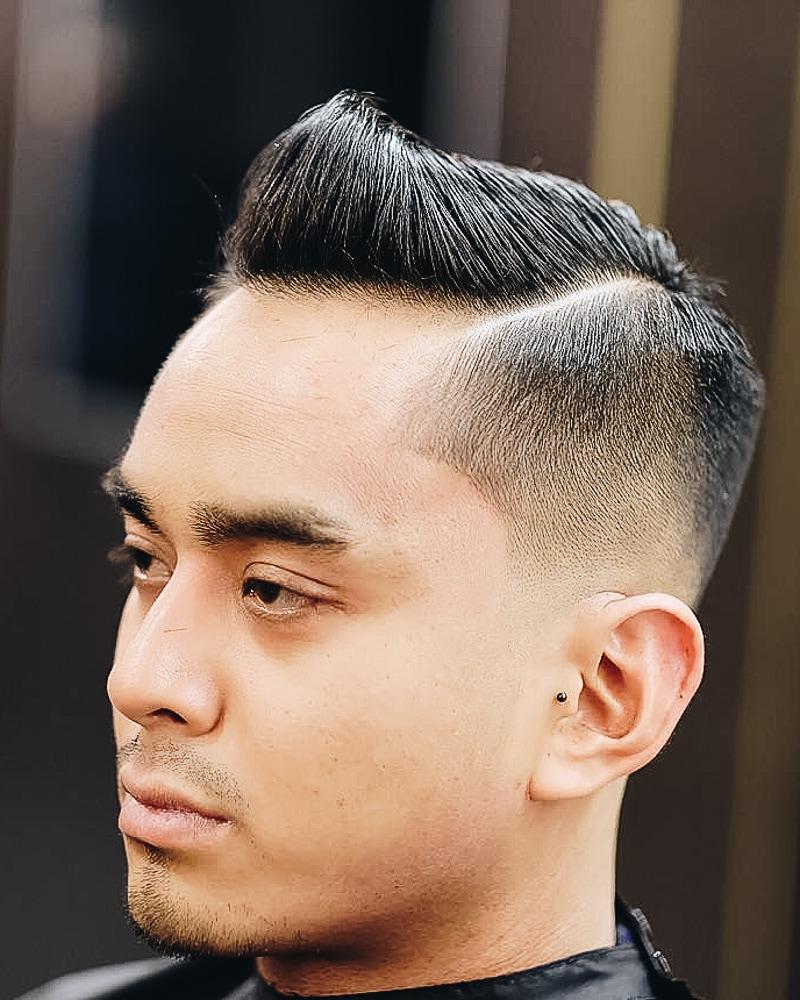 best short haircuts men structured quiff undercut sides - Luxe Digital
