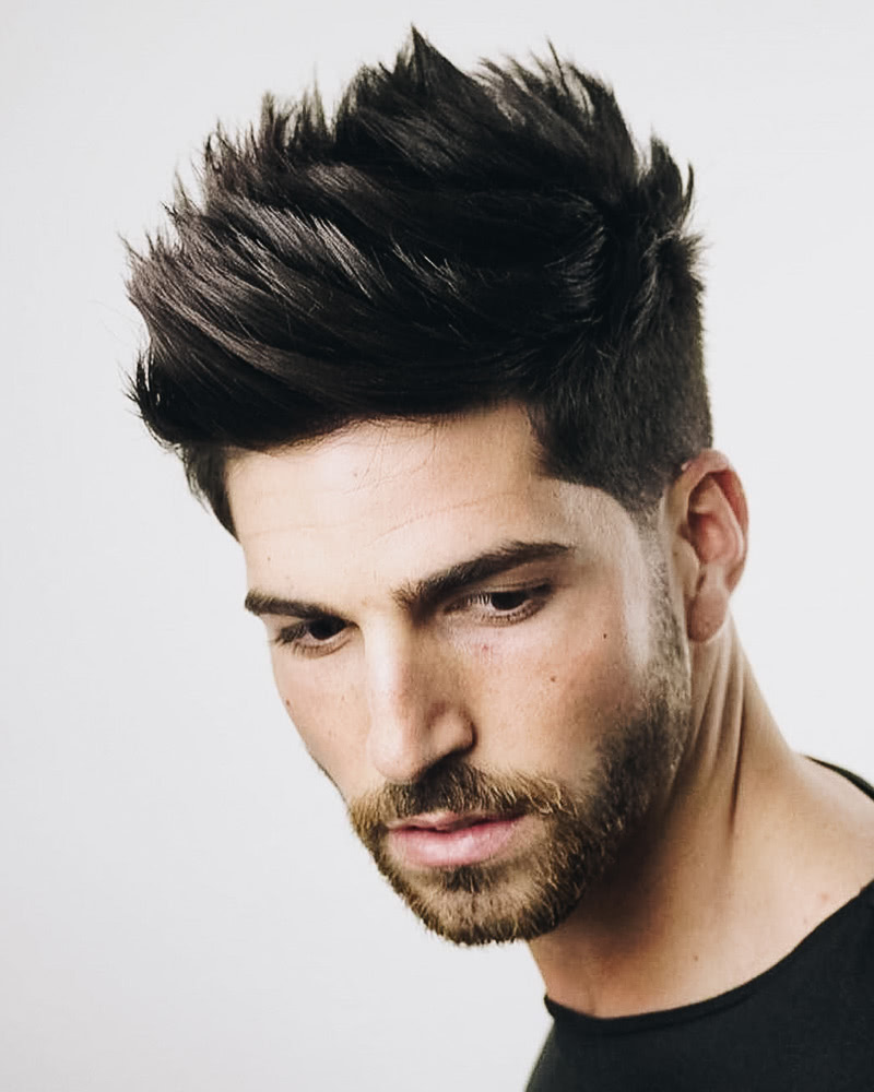 best short haircuts men textured quiff - Luxe Digital