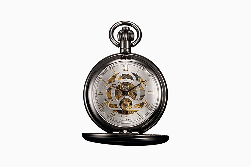 best pocket watch kronen sohne skeleton - Luxe Digital