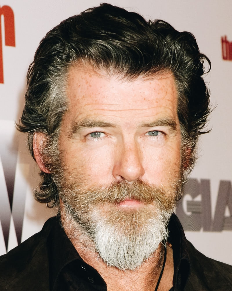 best medium length hairstyles men slicked back beard - Luxe Digital