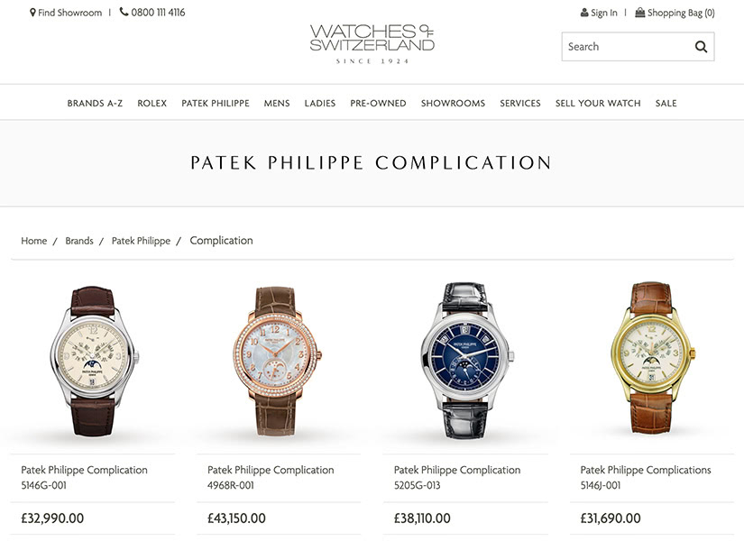 patek philippe online sales luxury stay-at-home economy - Luxe Digital