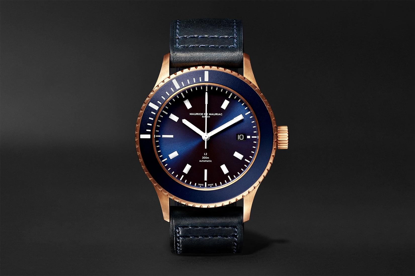 best dive watch maurice de mauriac L2 deep blue - Luxe Digital