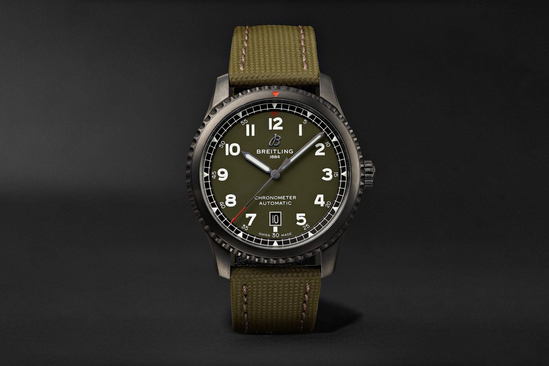best pilot watch breitling aviator 8 curtiss warhawk - Luxe Digital