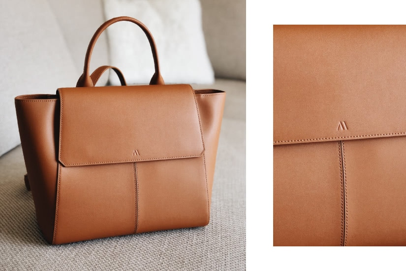kaaib ags mini hero cognac italian leather luxe digital