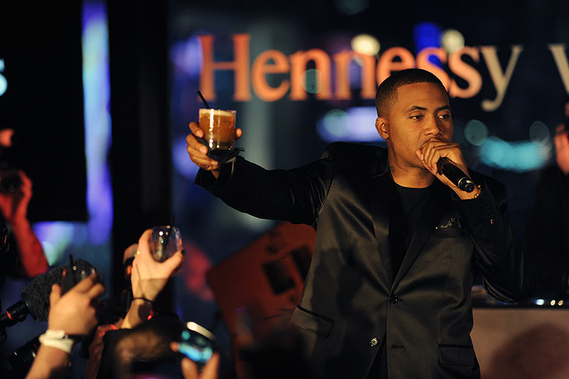hennessy luxury cognac brandy nas collaboration - Luxe Digital
