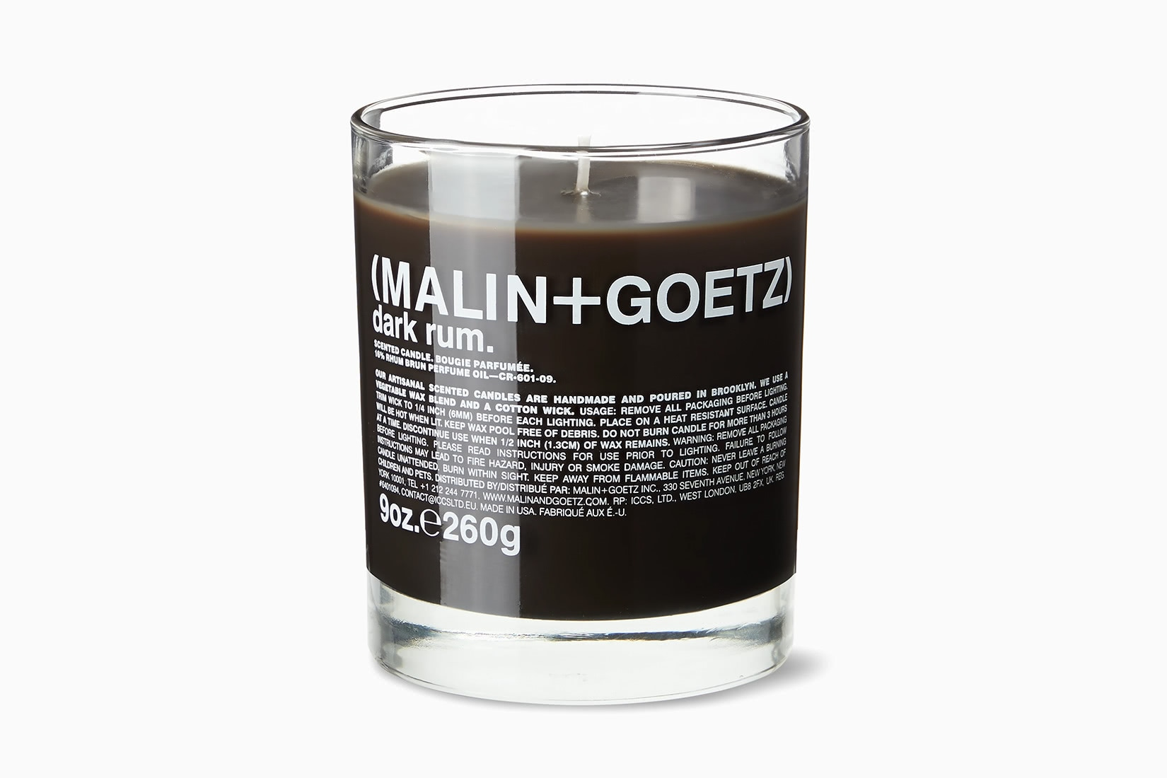 best scented candles malin + goetz dark rum home fragrance - Luxe Digital
