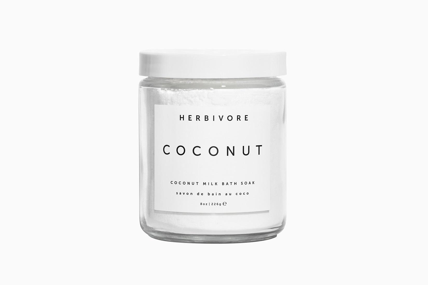 best natural organic beauty skincare herbivore botanicals coconut milk bath soak - Luxe Digital