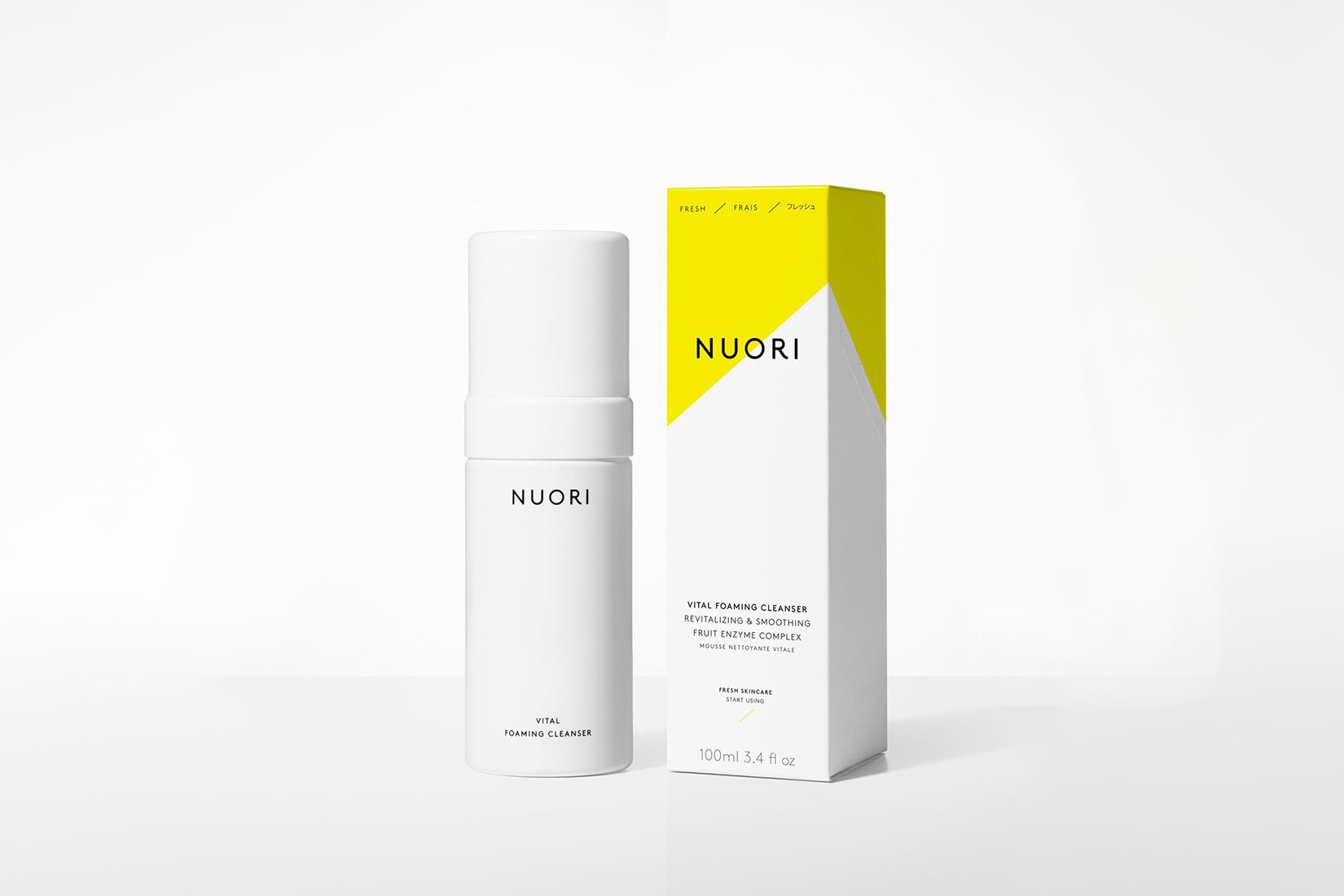 best natural organic beauty skincare nuori vital foaming cleanser - Luxe Digital