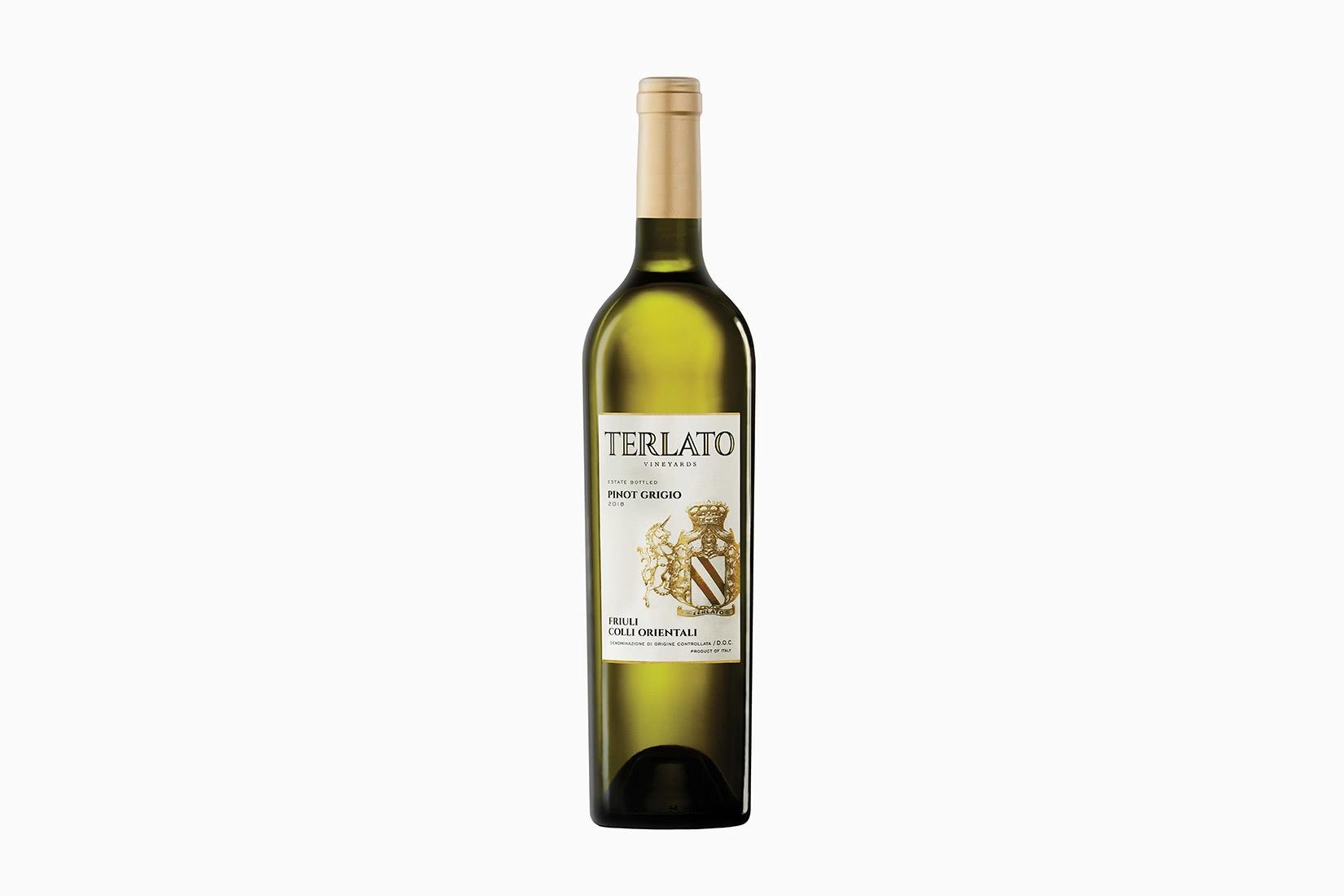 best wine terlato family vineyards friuli pinot grigio - Luxe Digital