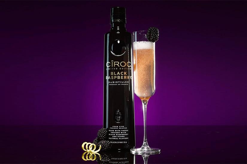 ciroc vodka cocktail recipe peach bellini - Luxe Digital
