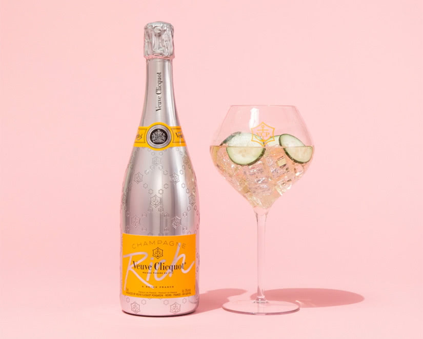 veuve clicquot cocktail rich rose champagne - Luxe Digital