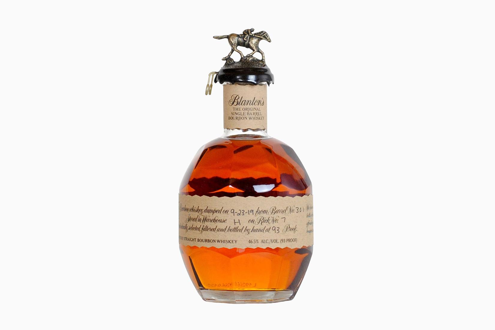 Tamaño de la botella de whisky bourbon de blanton's - Luxe Digital
