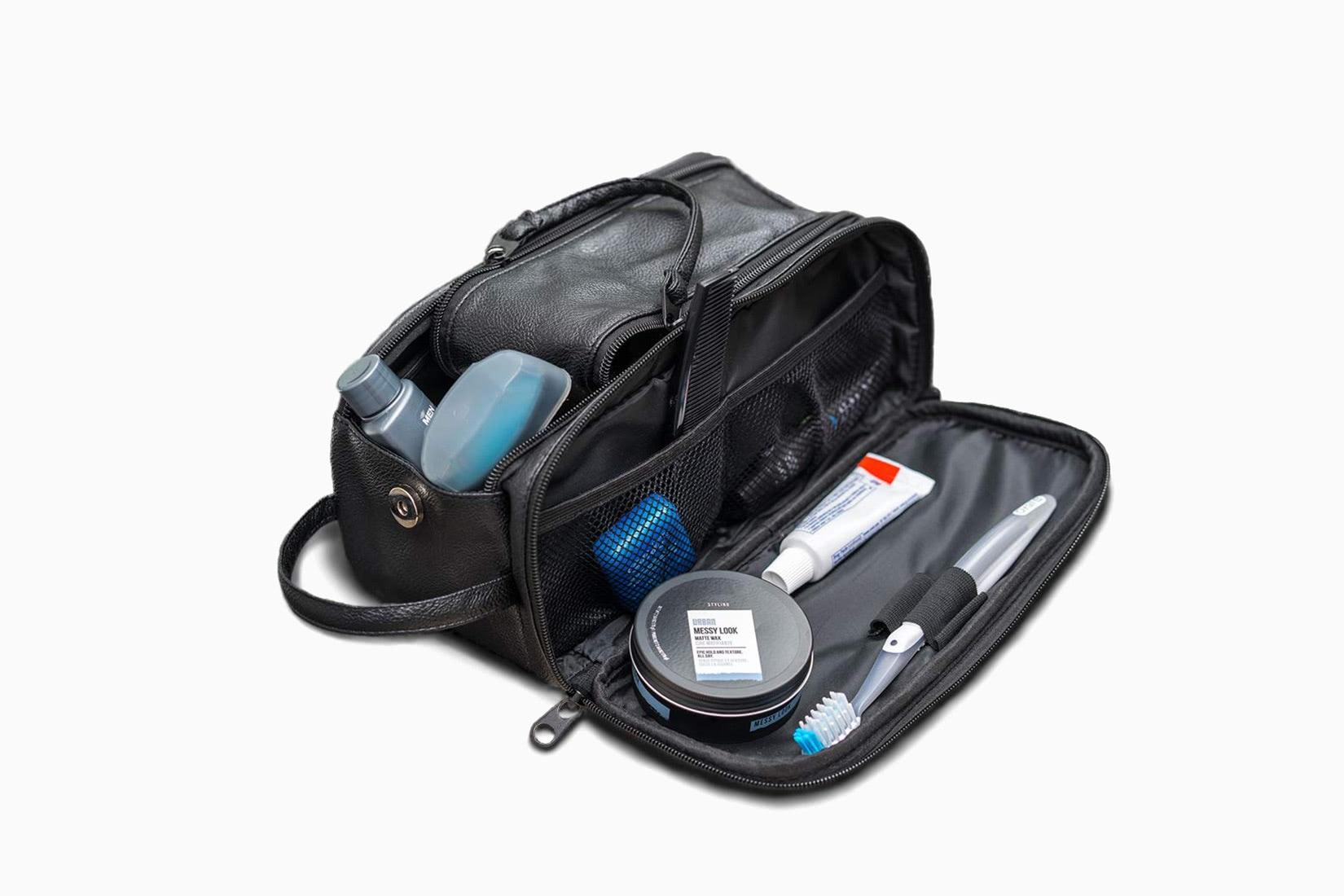 best dopp kit men large QS Leather review - Luxe Digital