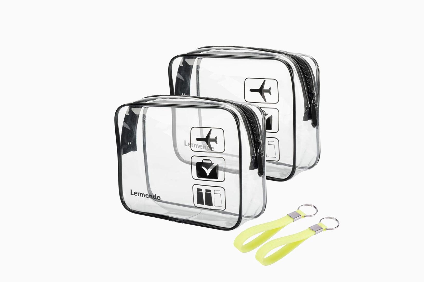best toiletry bag women clear carry-on lermende - Luxe Digital