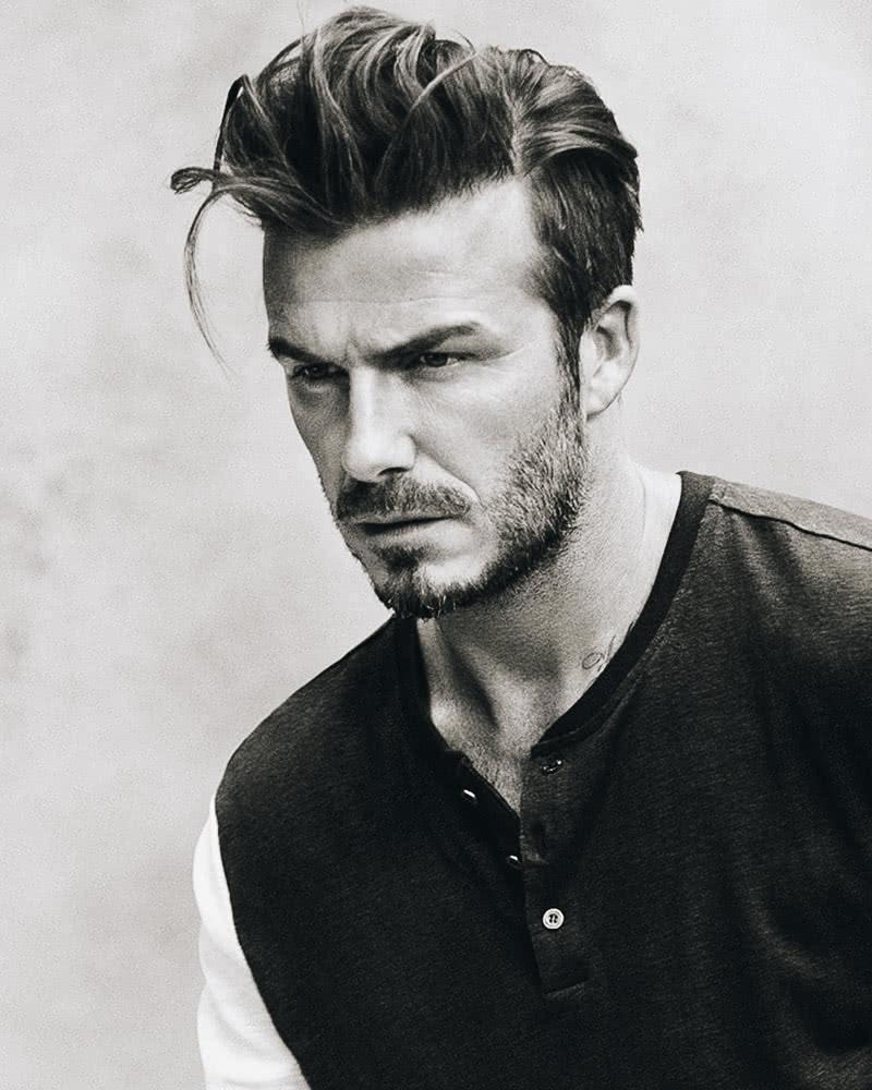 best long hairstyles men longer quiff david beckham - Luxe Digital