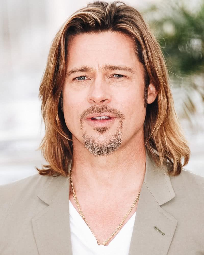 best long hairstyles men straight brad pitt - Luxe Digital
