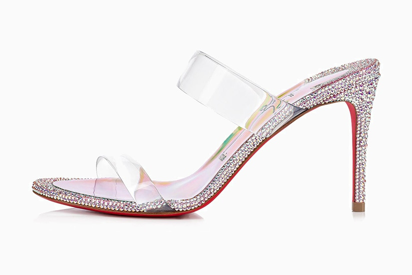 most comfortable sandals women christian louboutin just strass luxe digital