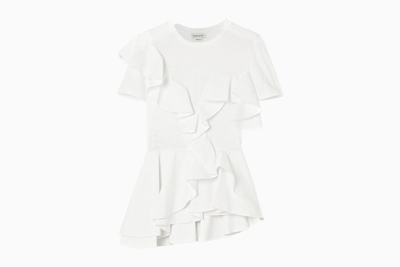 best white t-shirt women alexander mcqueen poplin tee luxe digital
