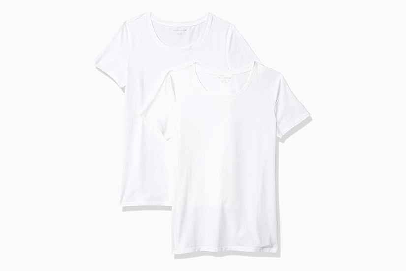 best white t-shirt women amazon essentials classic fit tee luxe digital