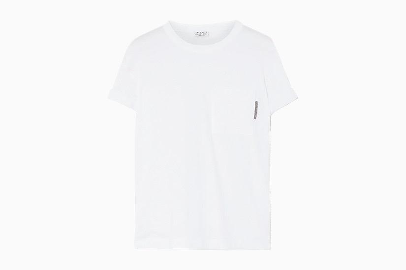 best white t-shirt women brunello cucinelli jersey tee luxe digital